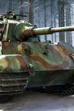 Preview iPhone wallpaper German heavy tank, Royal Tiger II