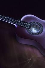 Preview iPhone wallpaper Guitar, music, light, dark