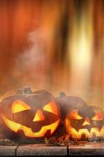 Halloween, pumpkin, candles, lights