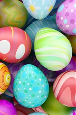 Happy Easter, colorful eggs