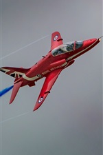 Preview iPhone wallpaper Hawk T1, Red Arrow aircraft
