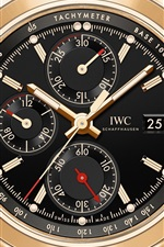Preview iPhone wallpaper IWC watch, gold color