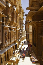 Preview iPhone wallpaper India, Rajasthan, street, buildings, city