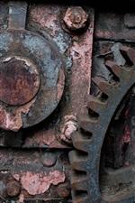Máquina industrial, ferrugem, equipamento