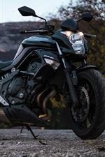 Preview iPhone wallpaper Kawasaki ER-6n motorcycle