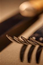 Knife, fork, macro photography