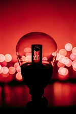 Preview iPhone wallpaper Lamp, red background
