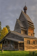 Preview iPhone wallpaper Leningrad Oblast, church, village, Russia
