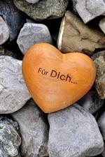 Amor coração e pedras