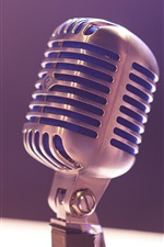 Preview iPhone wallpaper Microphone close-up