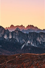 Preview iPhone wallpaper Mountains, peaks, nature landscape, Italy, Alps