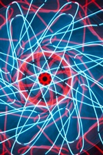 Neon lights, symmetry, pattern, colors