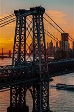 Preview iPhone wallpaper New York, bridge, dawn, USA