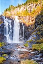Norway beautiful waterfall, autumn