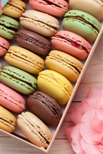 Preview iPhone wallpaper One box of macaron, colorful, gift, flowers