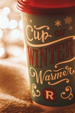 Preview iPhone wallpaper One cup drinks, cloth, glare lights