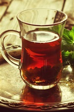 Preview iPhone wallpaper One cup of tea, mint