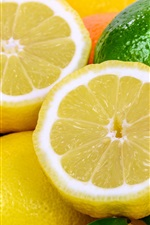 iPhone壁紙のプレビュー オレンジレモンとグリーンライム
