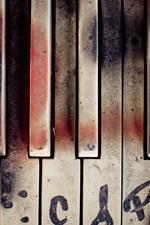 Preview iPhone wallpaper Piano, keys, graffiti