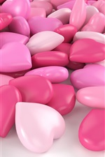 Pink love heart candy