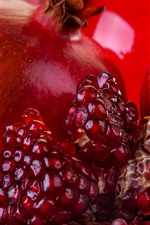 Preview iPhone wallpaper Pomegranate, ripe fruit