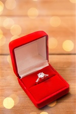 Preview iPhone wallpaper Red roses, diamond ring, romantic