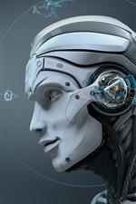 iPhone壁紙のプレビュー ロボット、頭蓋骨、創造的なデザイン