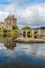Preview iPhone wallpaper Scotland, fortress, bridge, river, stones