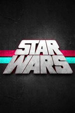 Preview iPhone wallpaper Star Wars, text