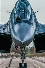 Preview iPhone wallpaper Sukhoi Su-30MKI fighter front view
