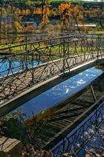 Switzerland, Canton of Zurich, autumn, bridge, river