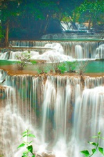 Preview iPhone wallpaper Thailand, waterfall, trees, forest