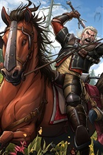 Preview iPhone wallpaper The Witcher 3: Wild Hunt, Blood and Wine, game art picture