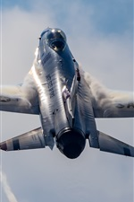 Preview iPhone wallpaper Thunderbird fighter flying up