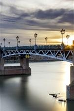 Preview iPhone wallpaper Toulouse, France, bridge, river