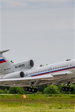 Preview iPhone wallpaper Tupolev, Tu-154 airplane