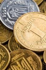 iPhone fondos de pantalla Monedas de Ucrania, dinero