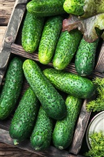 Preview iPhone wallpaper Vegetables, cucumbers