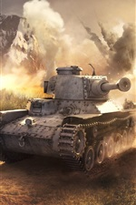 Preview iPhone wallpaper War, tanks, dust