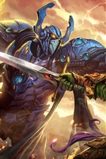 Warriors, fight, armor, art picture