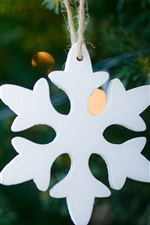Preview iPhone wallpaper White snowflake, Christmas decoration