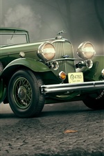 Preview iPhone wallpaper 1932 Lincoln KB green car