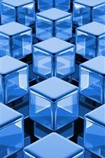 Preview iPhone wallpaper 3D blue cubes