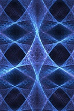 Preview iPhone wallpaper Abstract fractal, blue colors