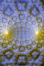 Preview iPhone wallpaper Abstract fractal, light, digital design