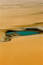 Preview iPhone wallpaper Africa, Niger, desert, oasis, water