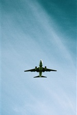 Preview iPhone wallpaper Airplane flight, blue sky