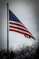 Preview iPhone wallpaper America flag, dusk