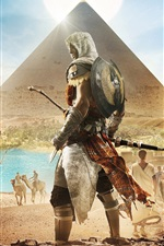 Preview iPhone wallpaper Assassin's Creed: Origins, Egypt, Pyramid