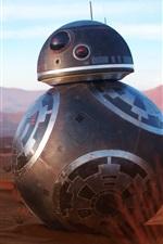 Preview iPhone wallpaper BB8 robot at desert